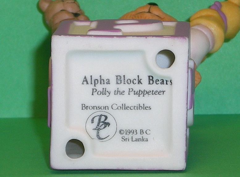 Image 4 of Alpha Block Bears Bronson Collectibles block P 1993