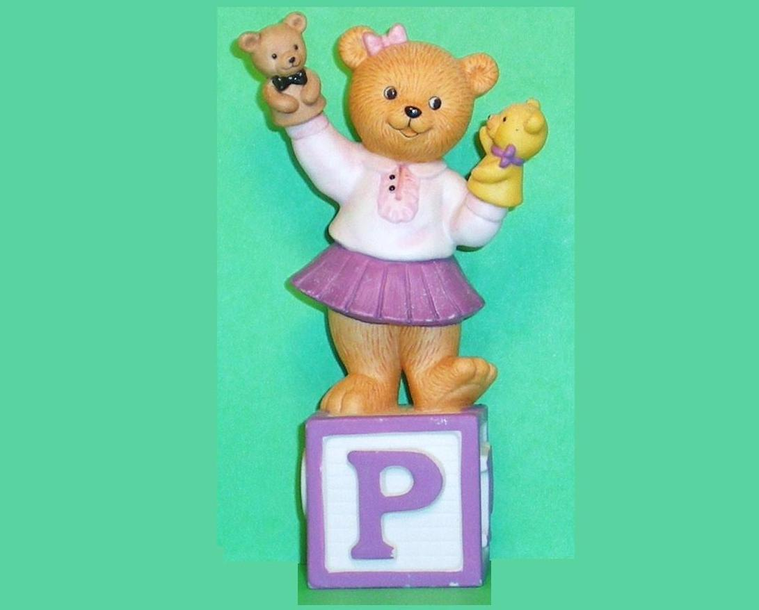 Alpha Block Bears Bronson Collectibles block P 1993