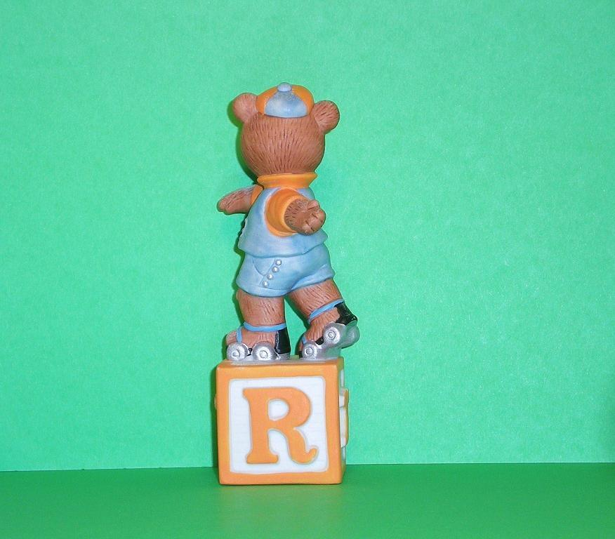 Image 2 of Alpha Block Bears Bronson Collectibles block R 1993