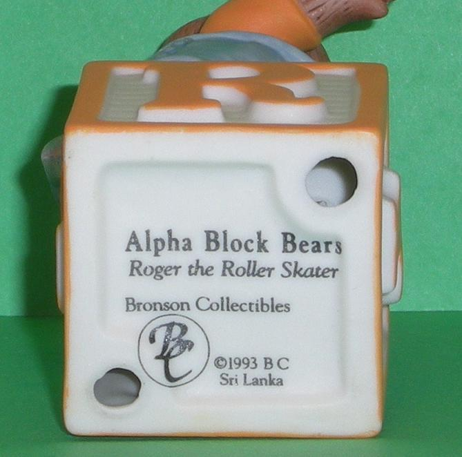 Image 4 of Alpha Block Bears Bronson Collectibles block R 1993