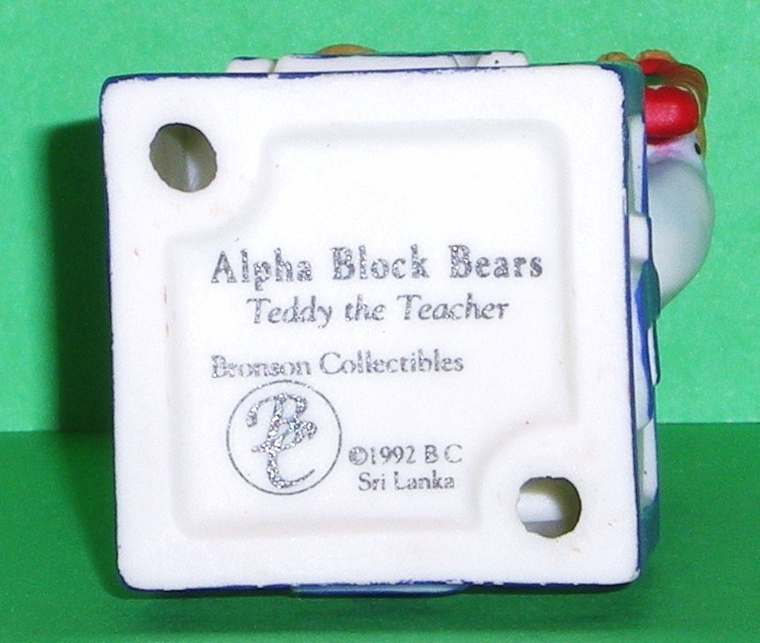 Image 4 of Alpha Block Bears Bronson Collectibles block T 1992