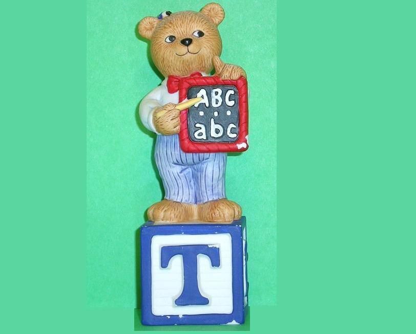 Image 0 of Alpha Block Bears Bronson Collectibles block T 1992