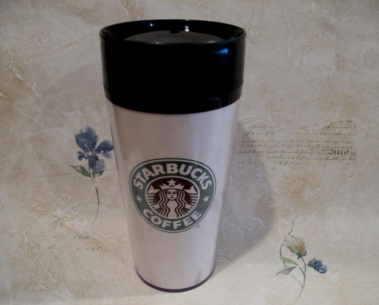 Vintage Starbucks Coffee Mug Travel Tumbler Mermaid Design Cup Starbucks