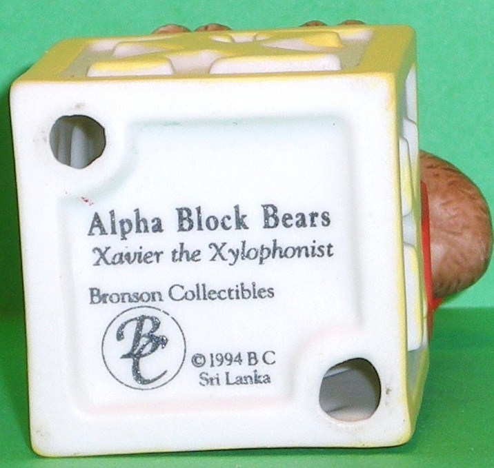 Image 4 of Alpha Block Bears Bronson Collectibles block X 1994