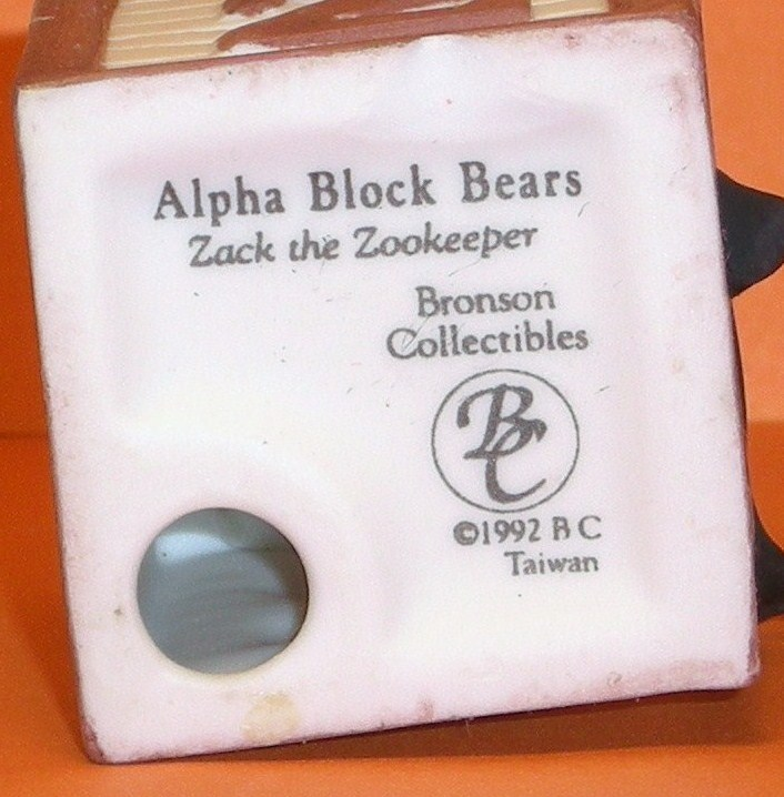 Image 4 of Alpha Block Bears Bronson Collectibles block Z 1992
