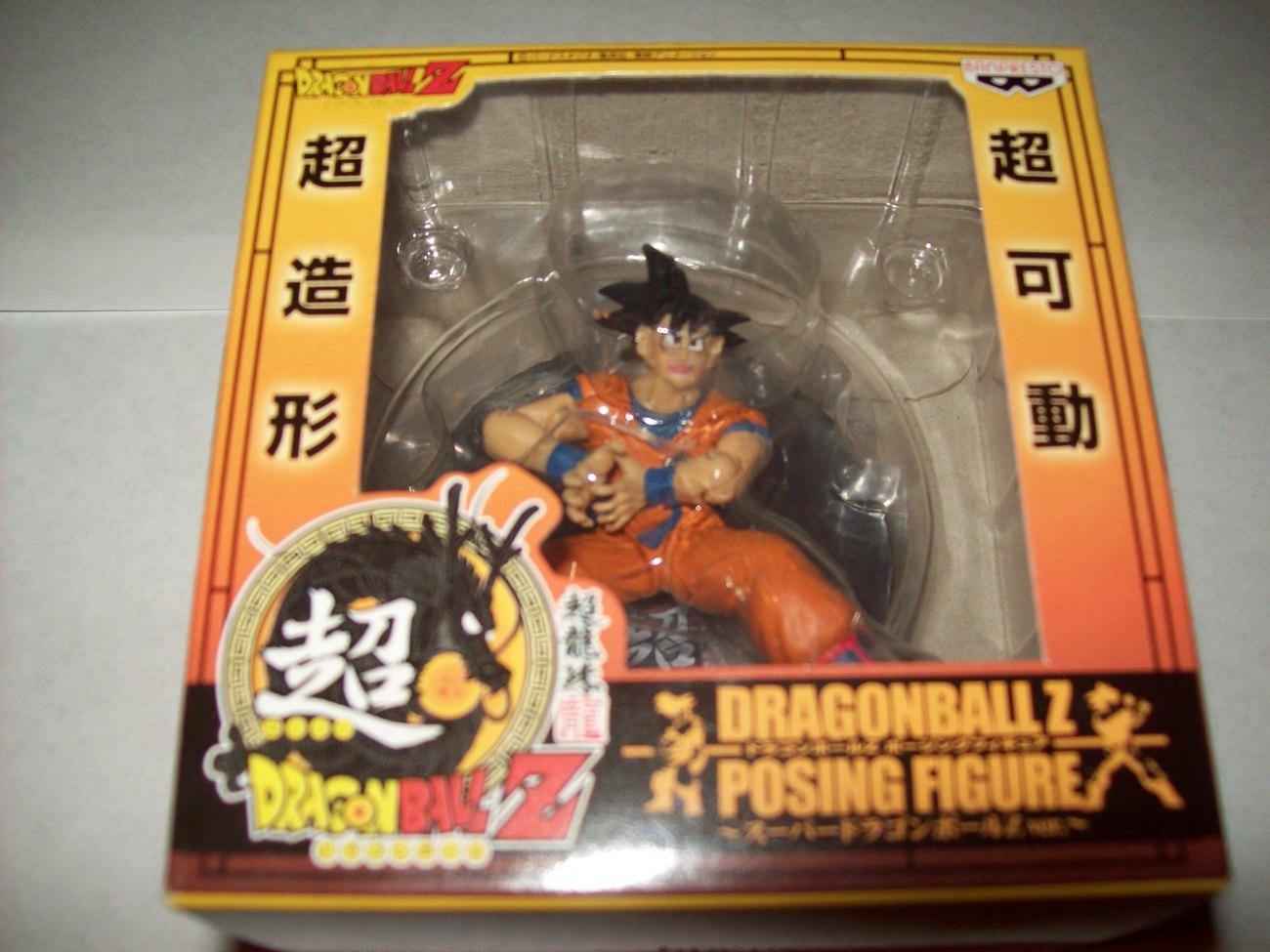 "FREE SHIP goku dragonball z banpresto posing figure 2.5"" prize nib toy"