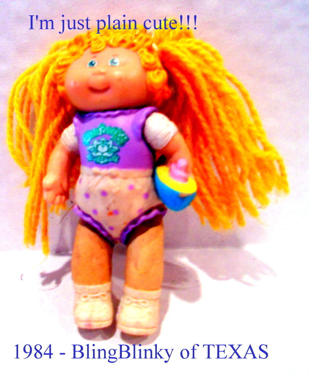 1984 Toys For Girls : Cabbage patch kid mini cpk blond blue eyed baby girl