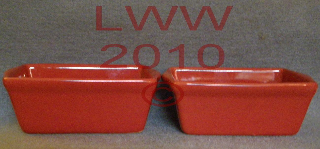 2 Holiday Red Mini Ceramic Loaf Bread Pans Bread Pans