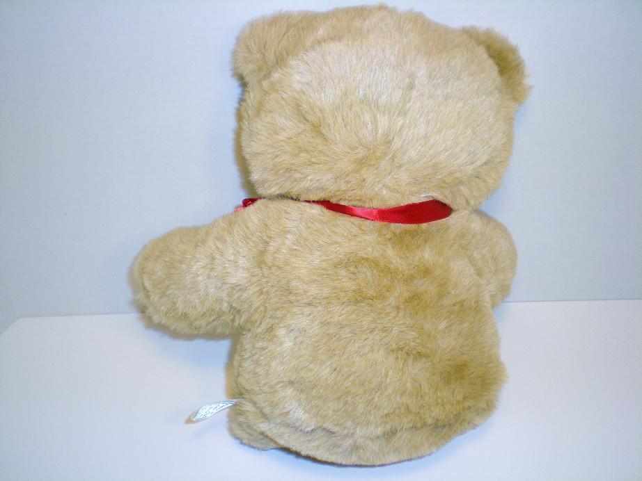 Image 1 of Huggable Bear light tan plush 16 inches 1990