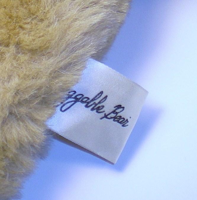 Image 2 of Huggable Bear light tan plush 16 inches 1990