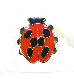 12 Pins - LADYBUG , red lady bug hat tac lapel pin #314