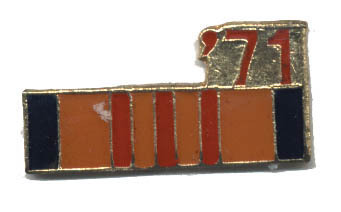 12 Pins - '71 , 1971 vietnam war veteran pin #4756