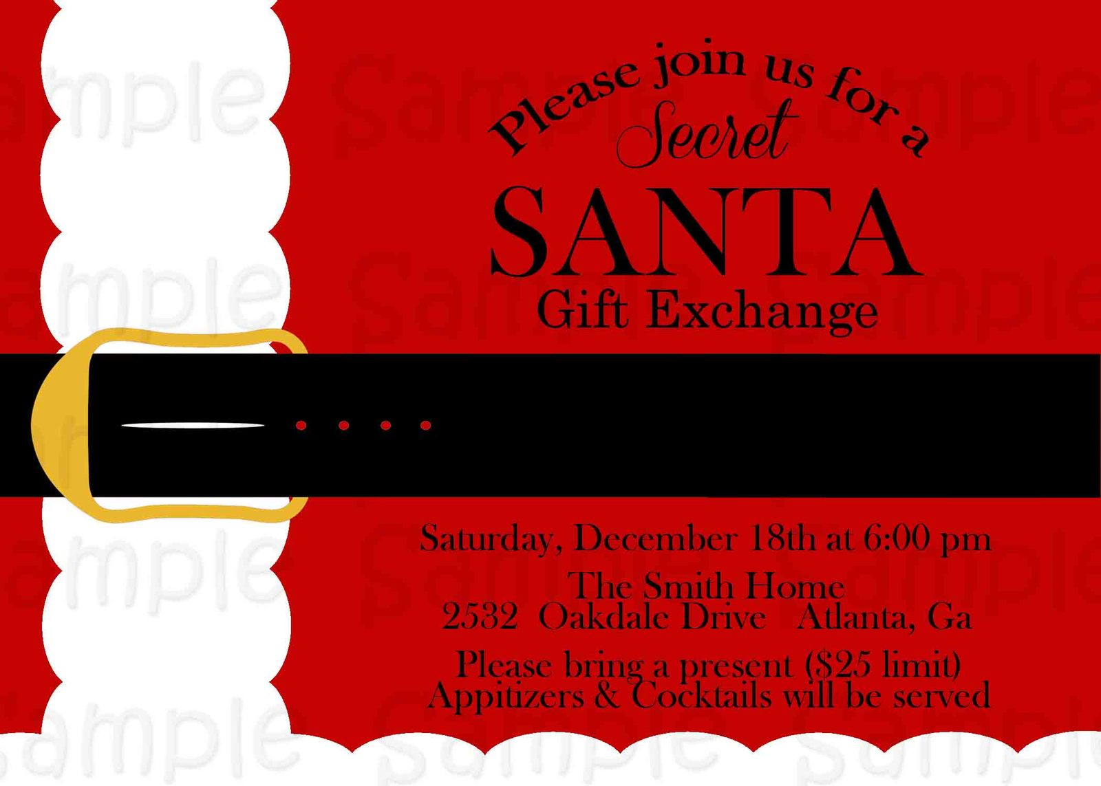 Fine Holiday Office Party Invitation Mold - Invitations and ...
