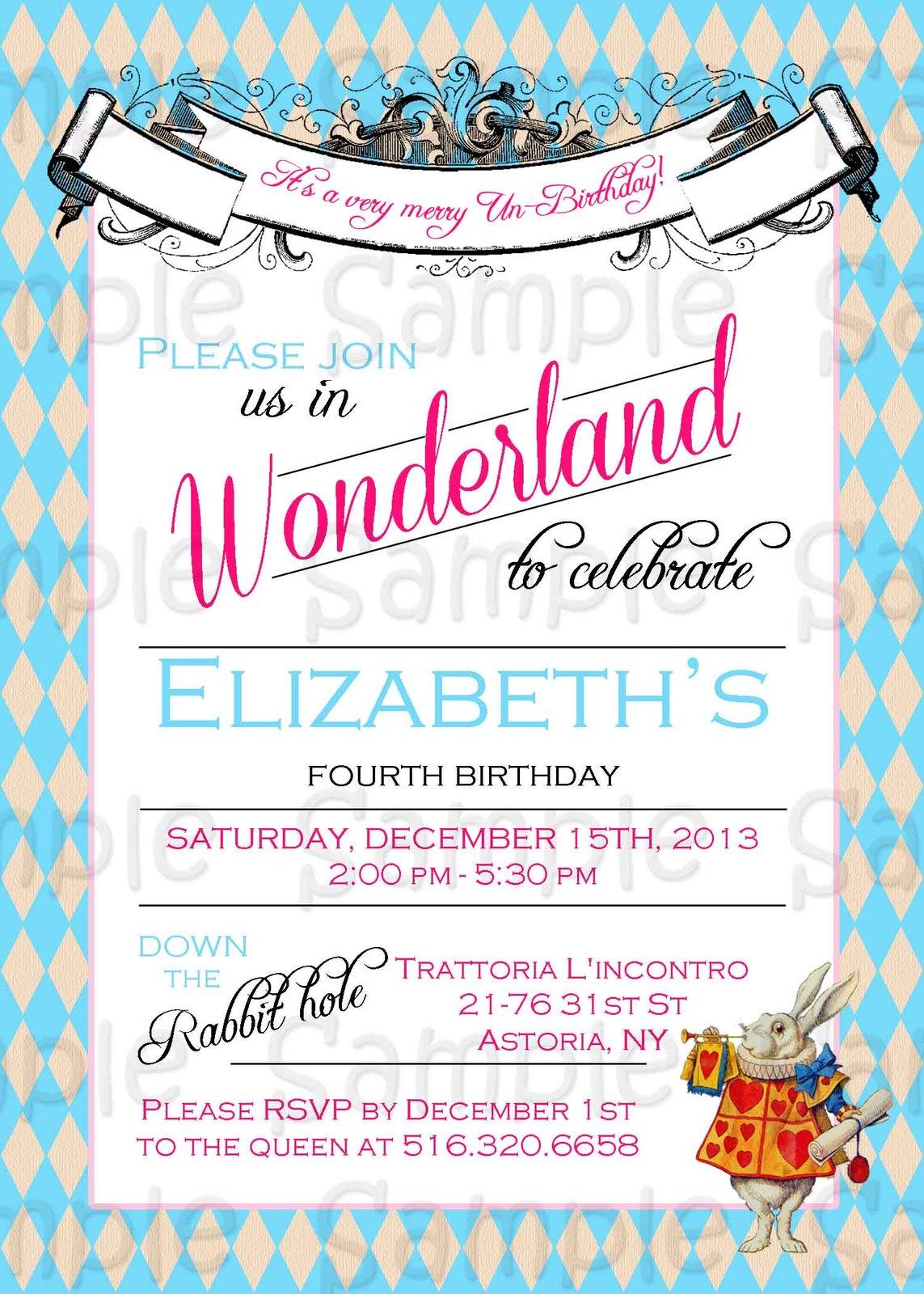 alice in wonderland free download invites for bridal shower