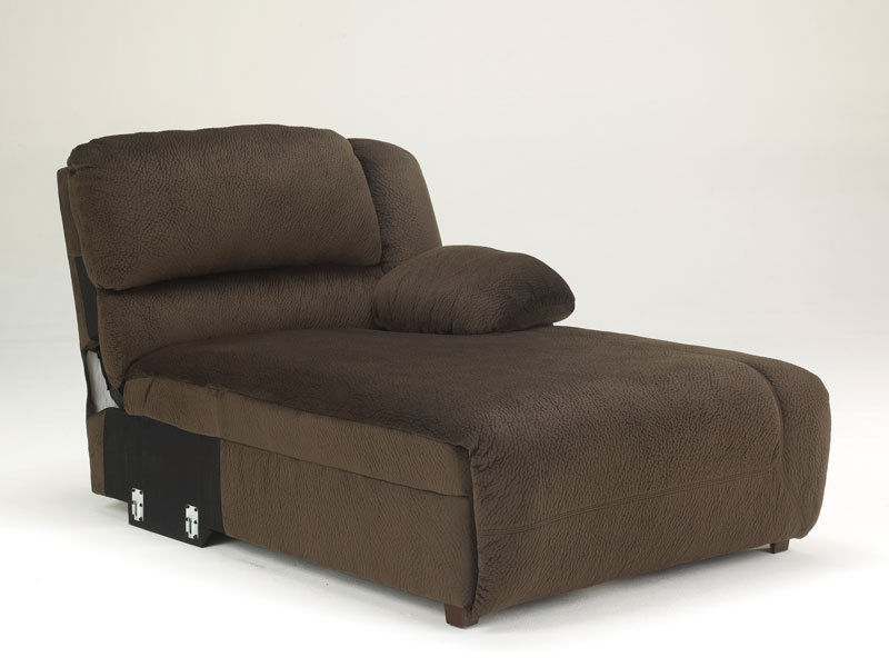 Avery 6pcs brown microfiber recliner sofa couch chaise for Brown chaise lounge sofa