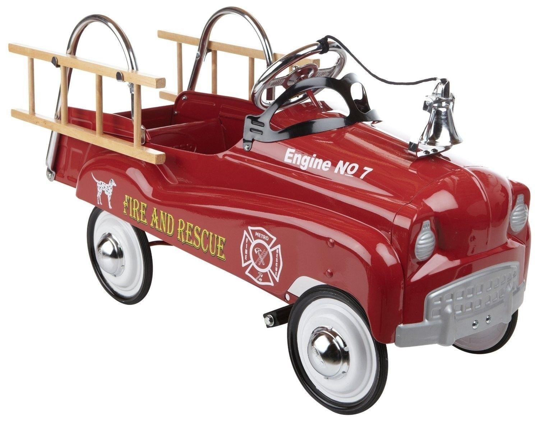 Fire Truck Pedal Car: Kids Red Fire Truck Pedal Car Kids Classic Toy Children's