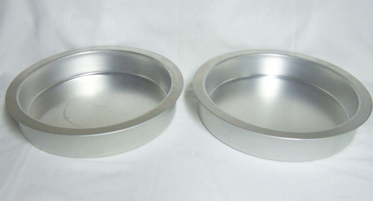 Set Of 2 Rema Air Bake Round Aluminum Cake Pans Bakeware