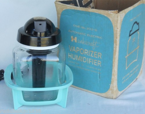 Vintage Hankscraft 202-B Glass Humidifier Vaporizer in Box, for Parts or Display