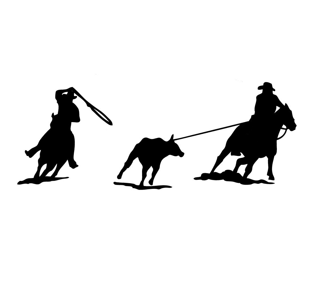 Team Roping Silhouette For - team roping logo Team Roping Colored Silhouette