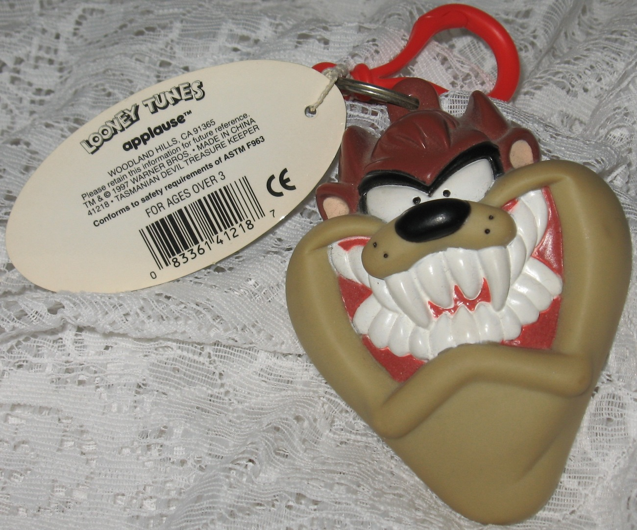 Tasmanian Devil Keychain/Change & trinkets Holder Looney Tunes Collectors item