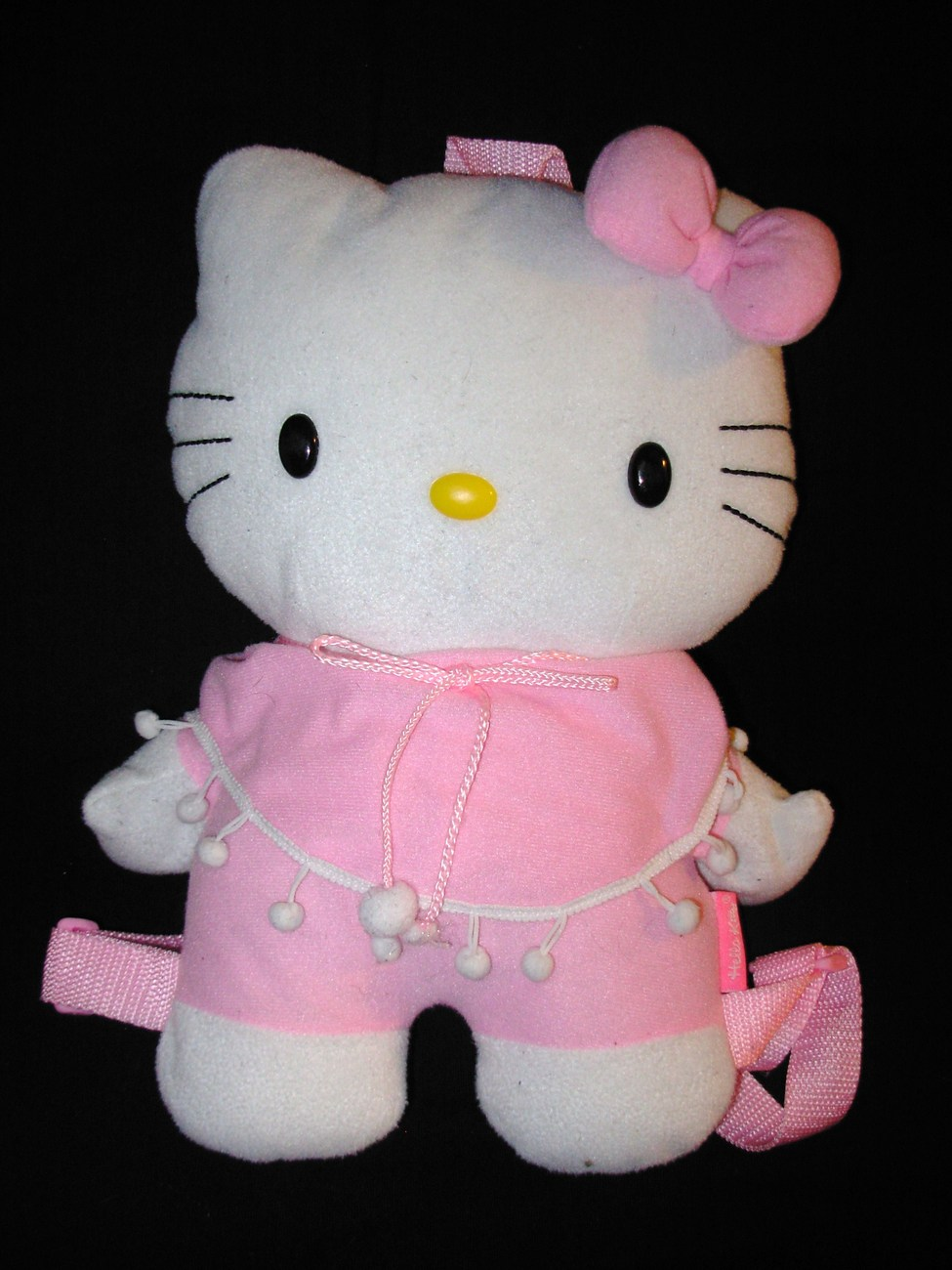 Hello Kitty Plush Backpack Bag Stuffed Animal Pink White