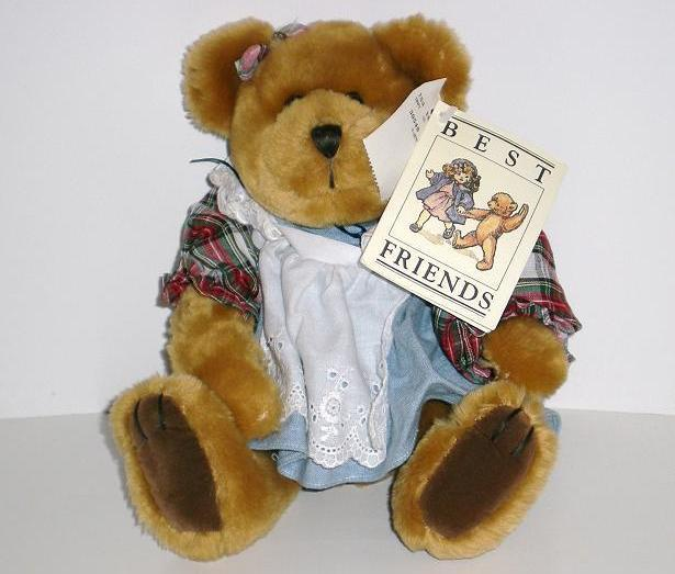 Best Friends Plush Little Girl Brown Bear 1997