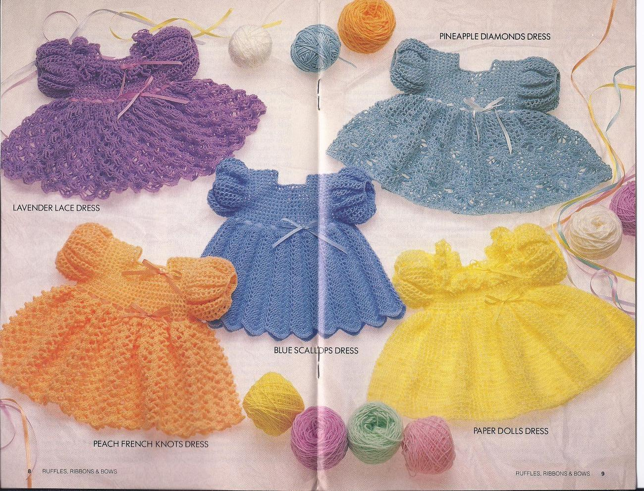 Ruffles Ribbons & Bows Baby Dresses Crochet and 50 similar ...