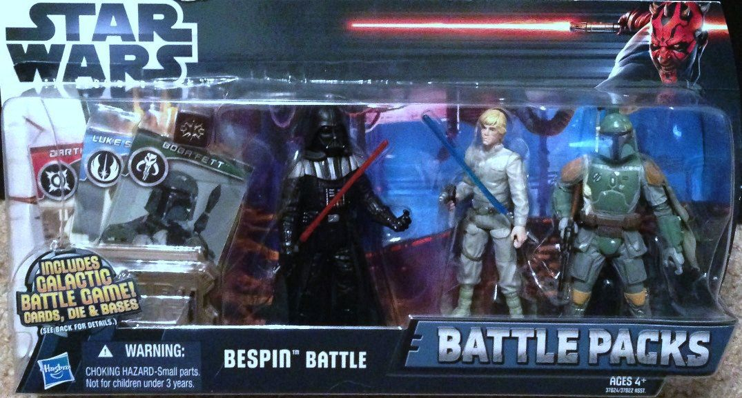 Image 0 of Star Wars Bespin Battle Pack Darth Vadar Luke Skywalker Boba Fett