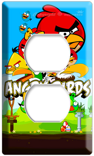 Decorative Wall Plates Nz : New angry birds elecrical outlet h cover wall plate kids