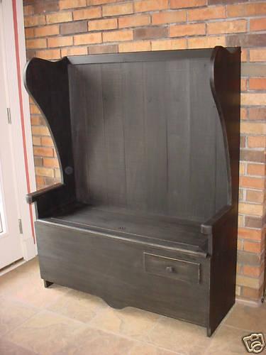 DIY High Back Deacon Bench Plans Plans Free