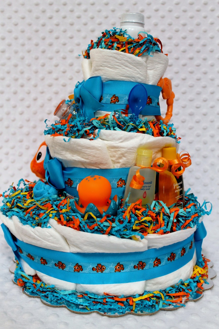 baby diaper cake finding nemo shower gift or centerpiece finding nemo