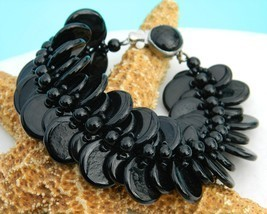 Vintage_glass_beads_disk_disc_bracelet_western_germany_black_thumb200