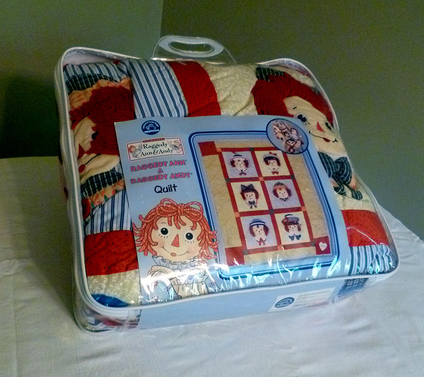 Raggedy Ann and Andy Infant Comforter Blanket Quilt Applause Like New SHIPS FREE