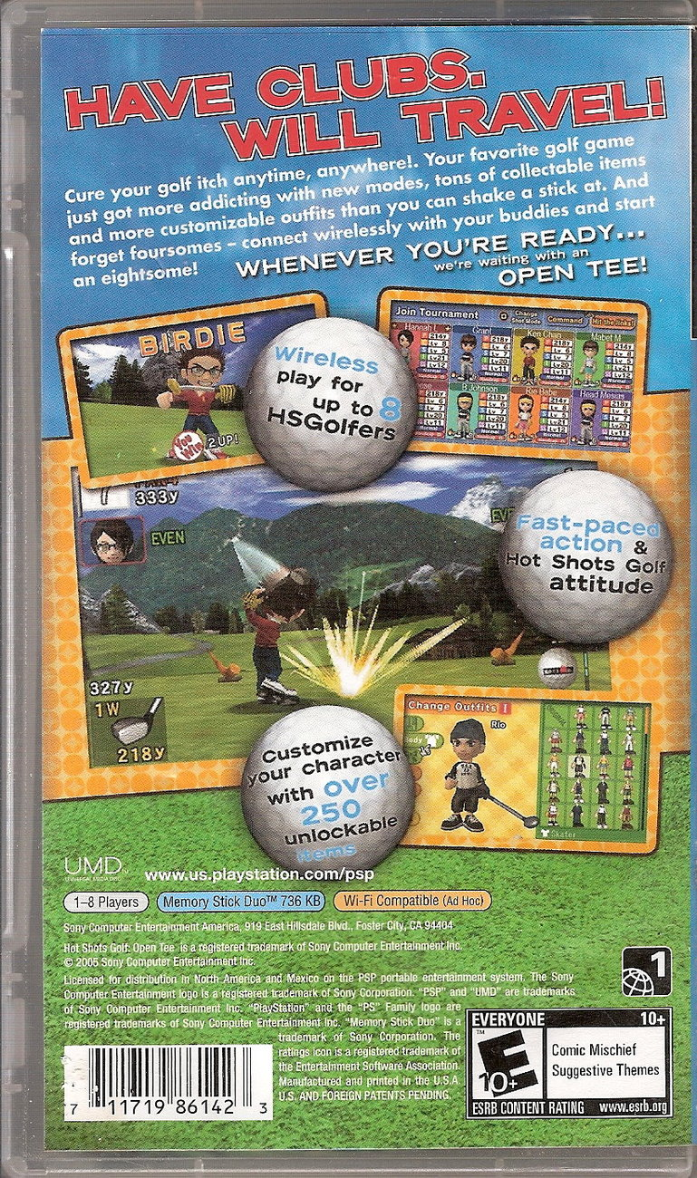 Image 1 of Hot Shots Golf: Open Tee Sony PSP 2006 video game