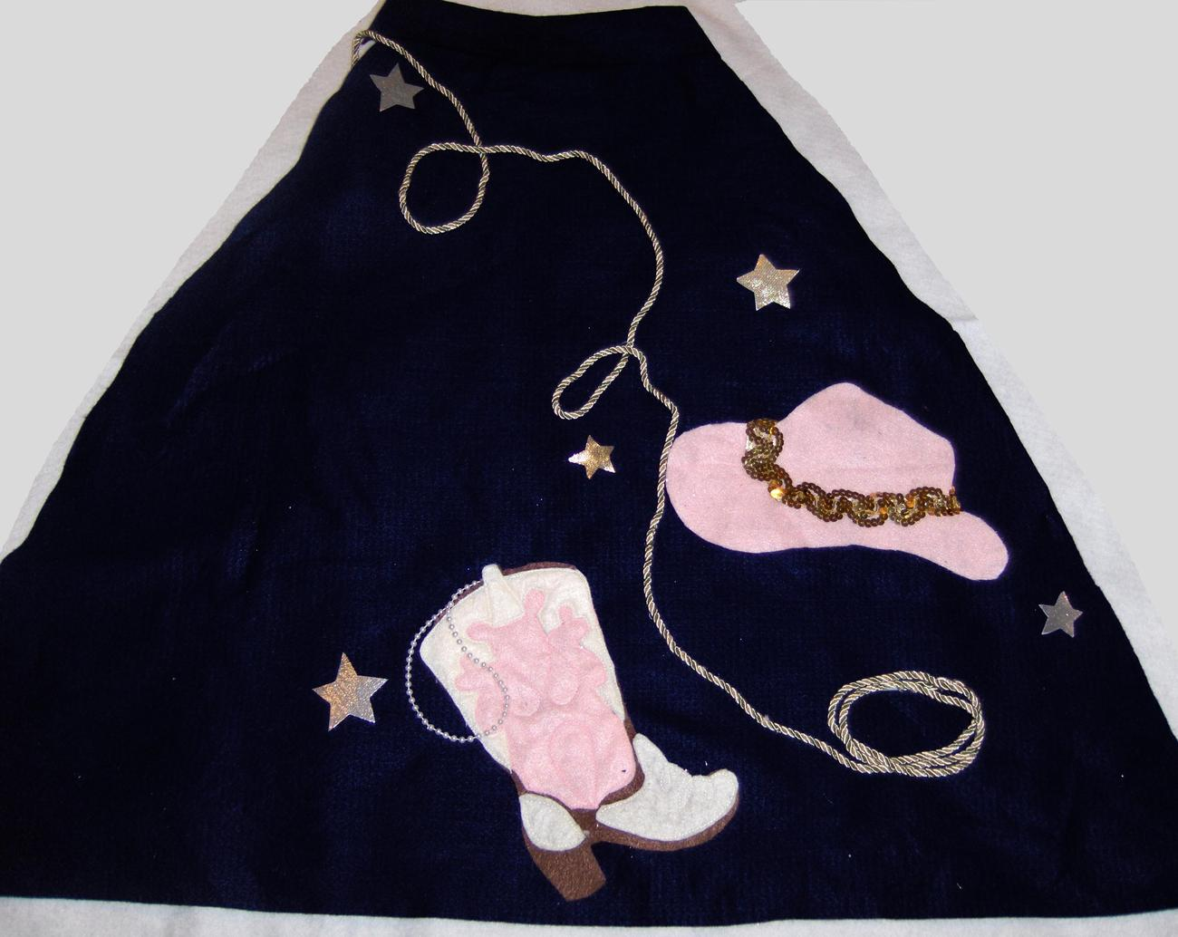 Poodle skirt appliqu elements cowgirl appliques for Poodle skirt applique template