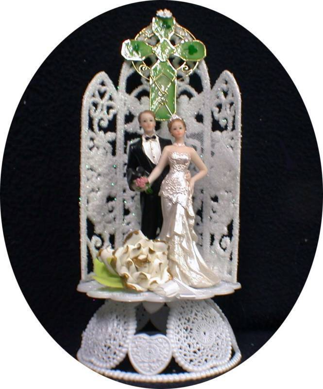 Celtic Cross Wedding Cake Toppers