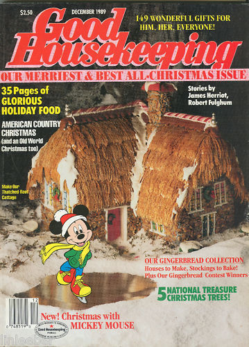 Good Housekeeping December 1989-GINGERBREAD HOUSE IDEAS