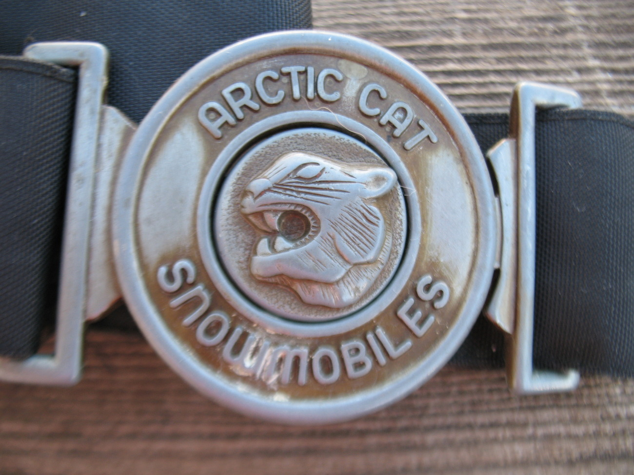 Vintage Arctic Cat snowmobile belt buckle lost replacement for suit Adult Black