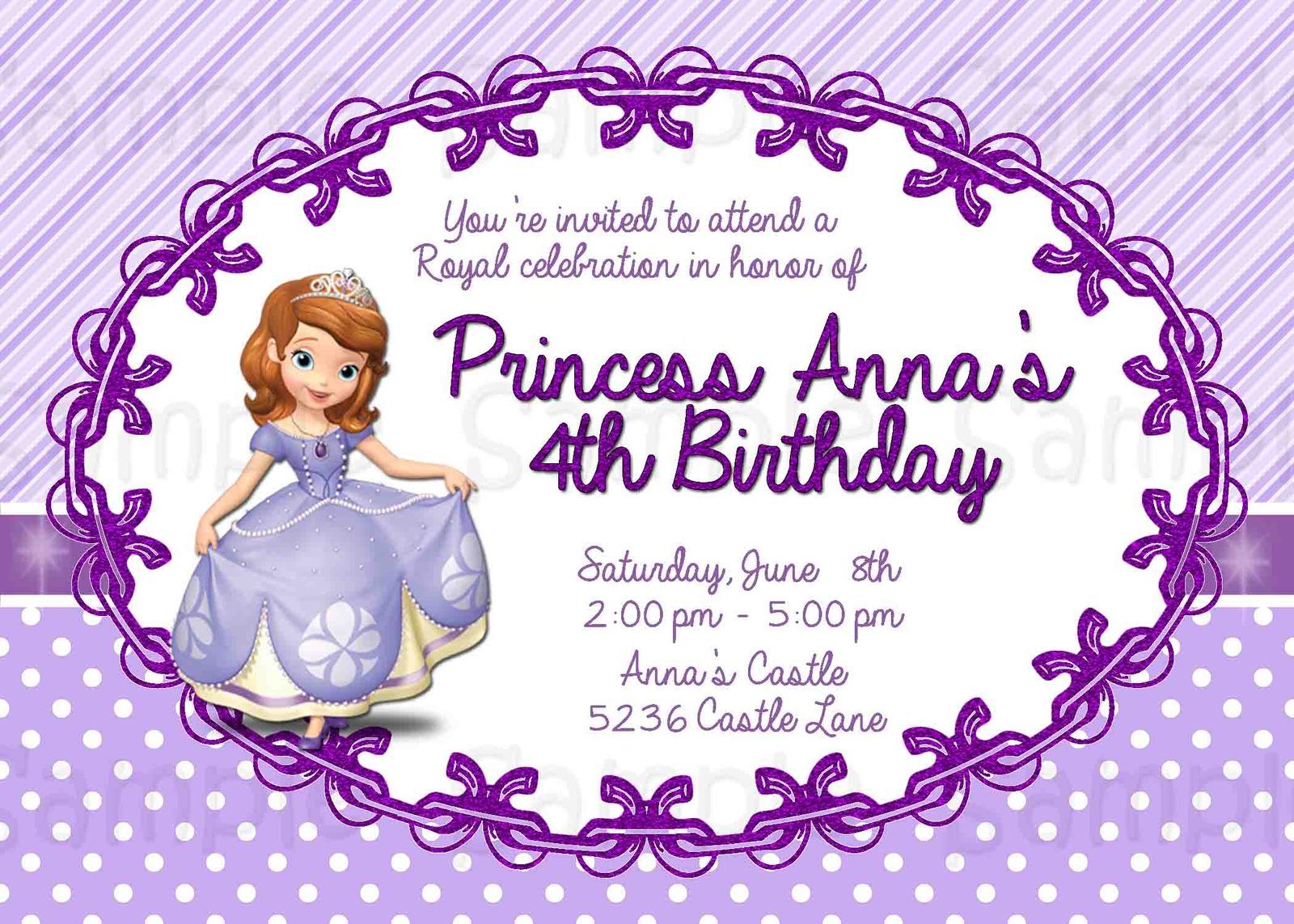 Sofia Birthday Invitations as adorable invitation design