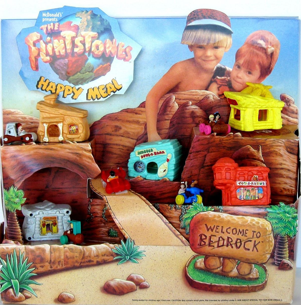Image 4 of McDonalds The Flintstones Happy Meal toys 4 pieces of 1993 set