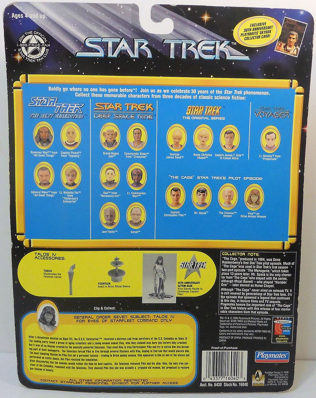 Image 2 of Star Trek TOS Vina as the Orion Girl The Cage Playmates 1996