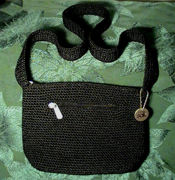 The Sak Black Crochet Handbag : The Sak Black Crochet Handbag Shoulder Bag Purse - Handbags & Purses