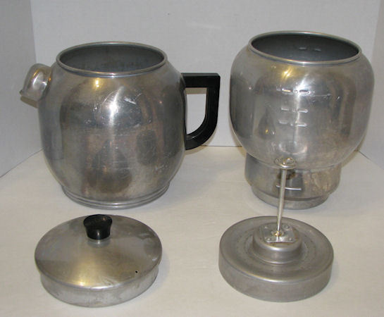 Vtg West Bend Kwik Drip Alum 18 cup Coffee Maker Camping USA - Coffee Makers