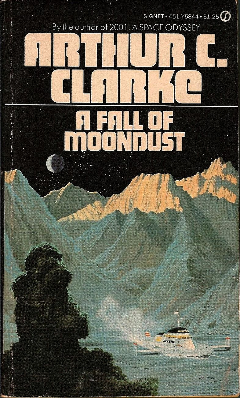 A Fall of Moondust by Arthur C. Clarke 1974 vintage PB edition