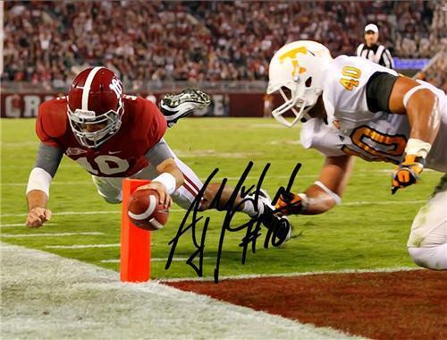 A.J. MCCARRON SIGNED PHOTO 8X10 RP AUTO AUTOGRAPHED AJ ALABAMA FOOTBALL