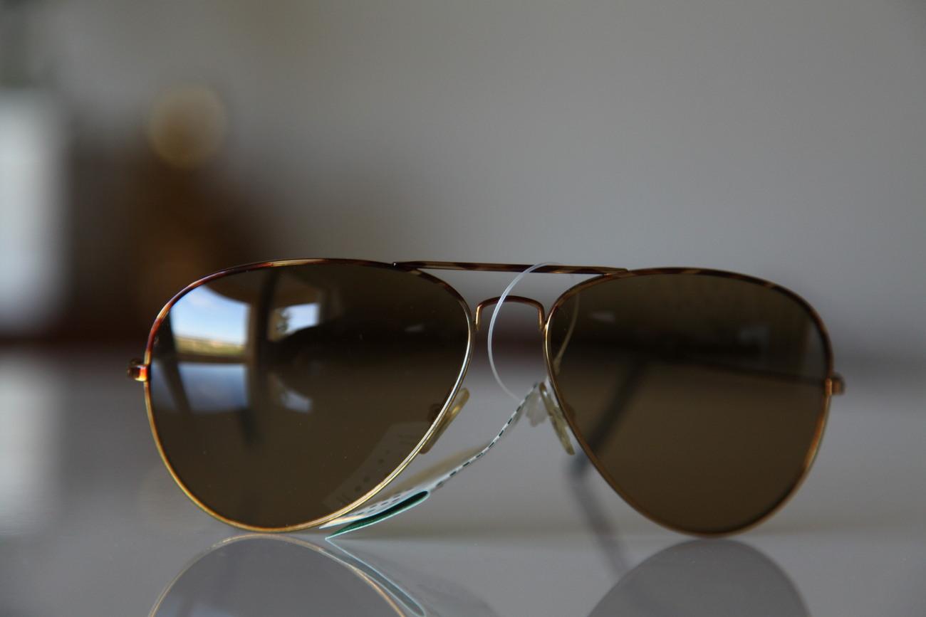 Aviator Sunglasses Gold Frame Brown Lenses : Polaroid Vintage Aviator Sunglasses Gold Frame/ Brown ...