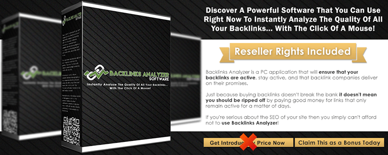 Backlinks Analyzer Software Infographic