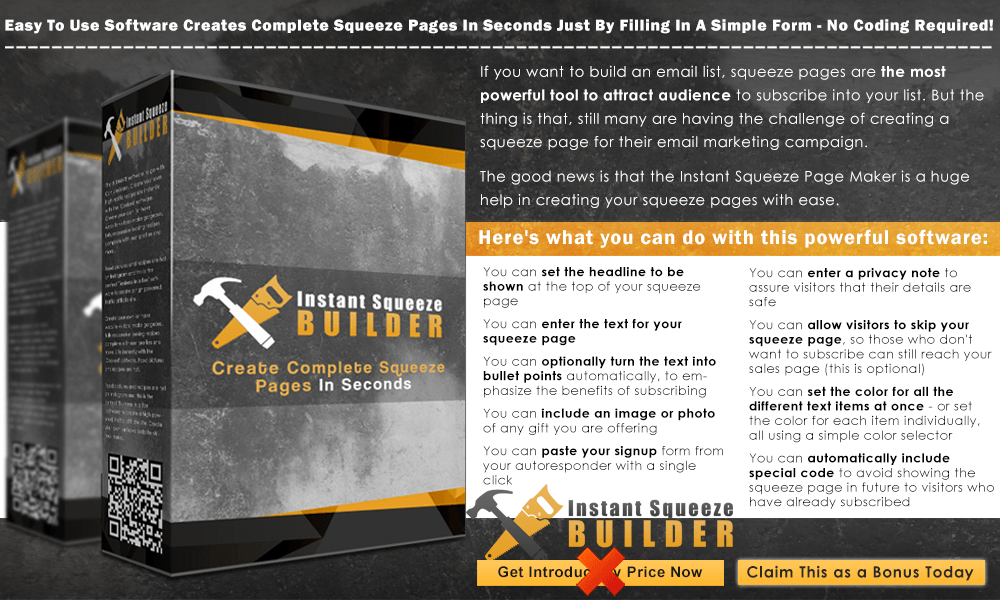 Instant Squeeze Builder Info Graphic