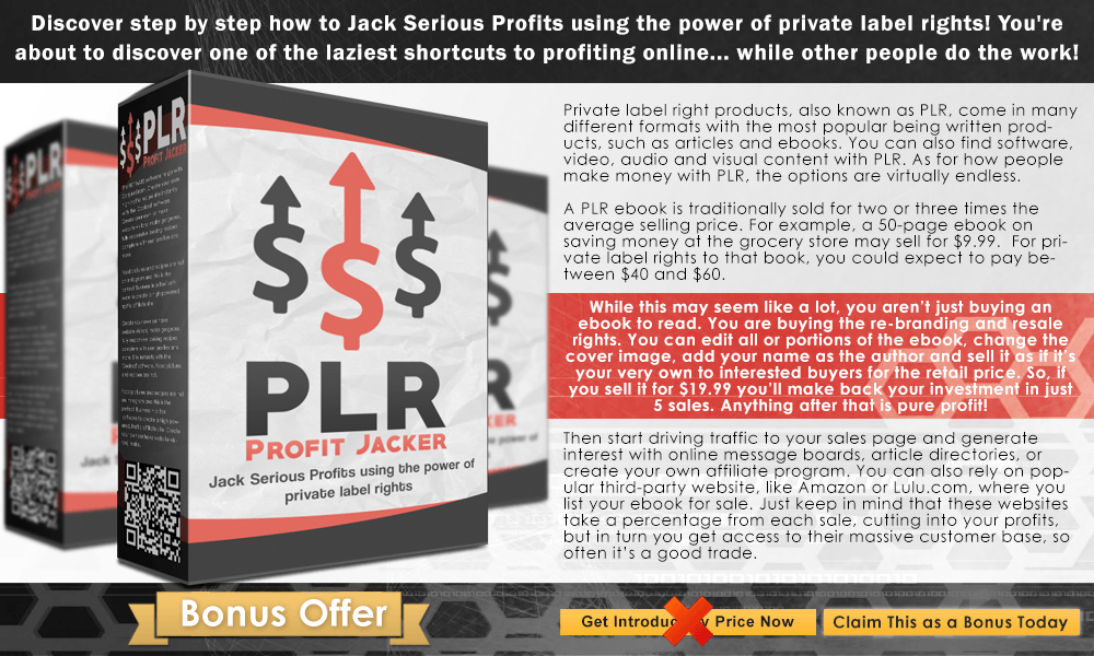 PLR Profit Jacker Info Graphict