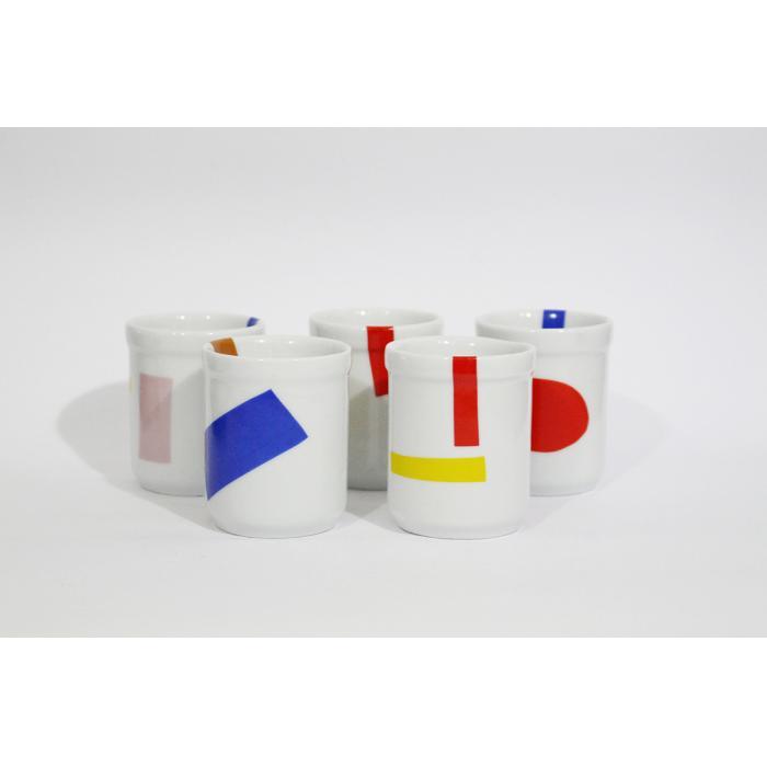 Jogo c/ 5 copos - Formas e linhas